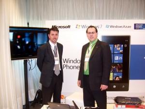 Alvaro Dreyer y Federico de los Santos en el Stand de Microsoft BizSpark en el Encuentro Genexus XXGX